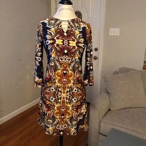 Perfect Fit Patterned Dress